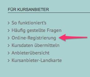 FAQ Kursanbieter Registrierung