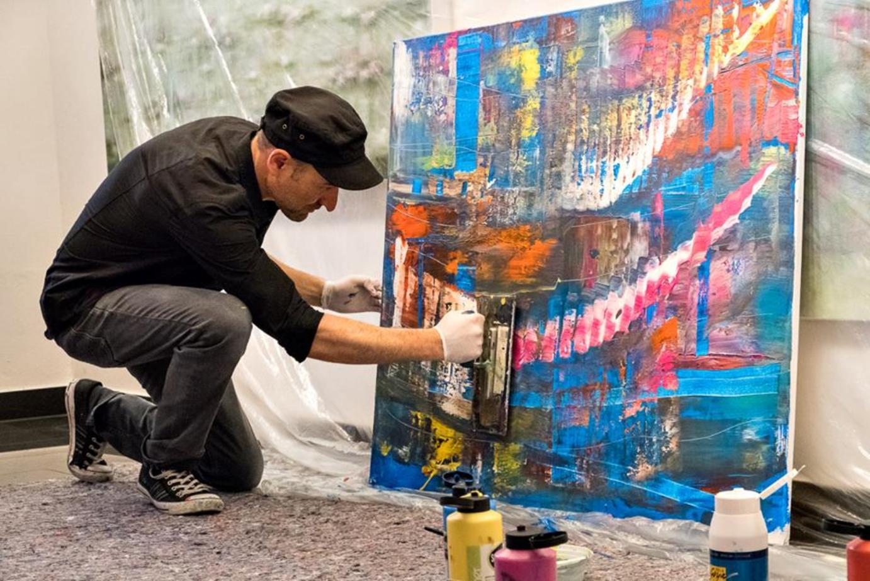 Be'shan Abstrakte Malerei 2