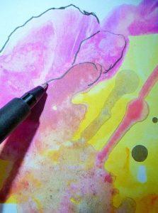 Ute Zander Kreativ unterwegs Schritt 4