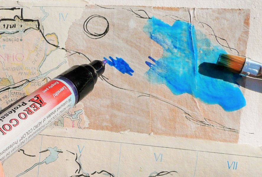 kreativ unterwegs III Foto 9 collage