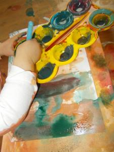 Kinder und malen Foto 2