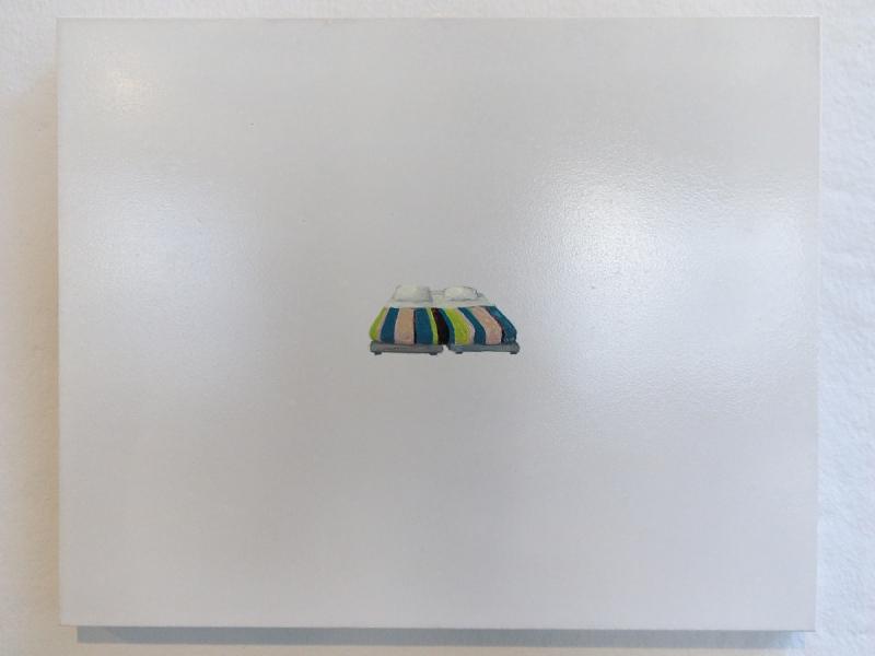 Anne Brégeaut, Les Parents, Guache auf Holz, 33 x 41 cm, 2006