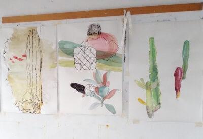 Malpais in Arbeit, Lanzarote 2019, Atelieransicht