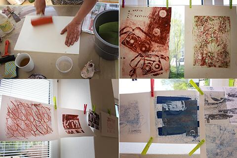 Impressionen aus dem Kurs Transferlithografie mit Peter Hinrichs