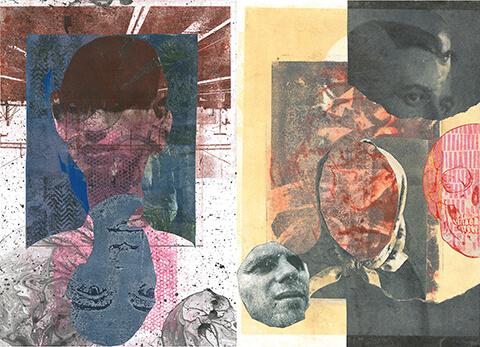 zwei Lithografiebeispiele von Peter Hinrichs