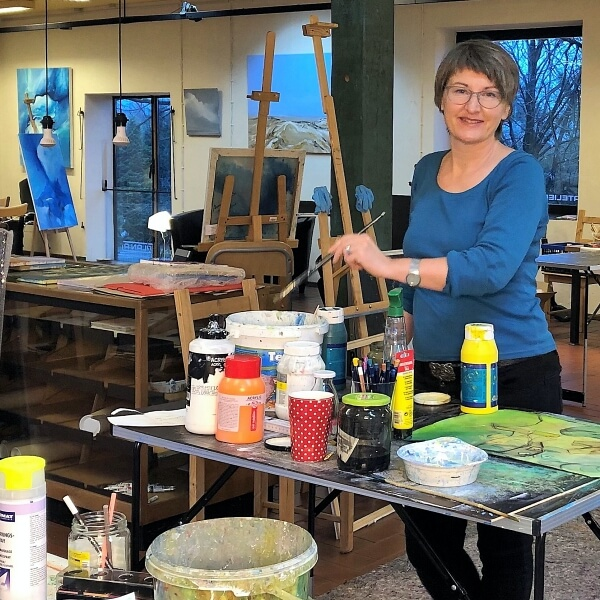 Anne Schwabe in ihrem Atelier